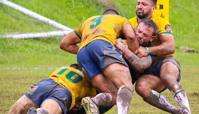 Brasil Mens Rugby League playing shot