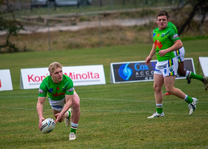Mitch Souter with the Under 20's Raiders