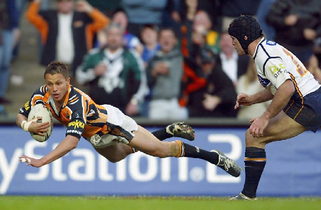Scott Prince Wests Tigers playing for Wests Tigers 2005