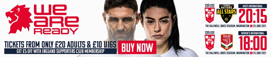 England Rugby League 2021 tickets