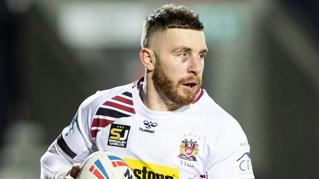 Jackson Hastings playing for Wigan