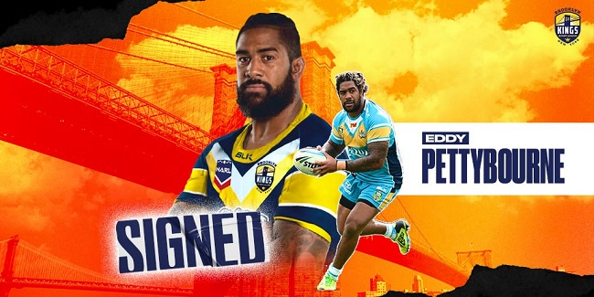 Eddy Pettybourne signs for the Brooklyn Kings