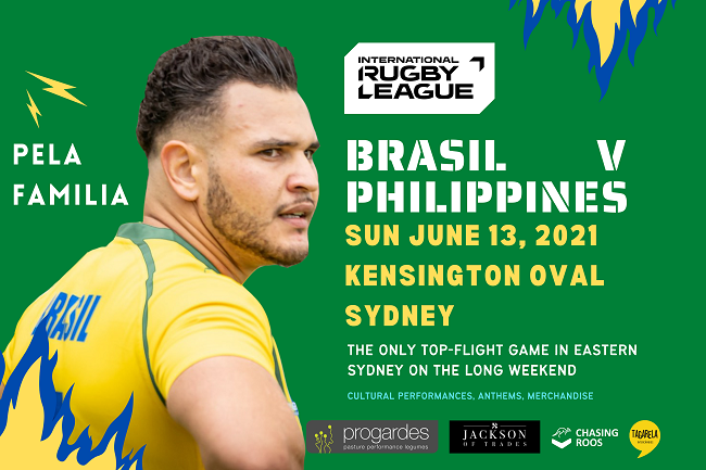 Brasil and Philippines Rugby League banner
