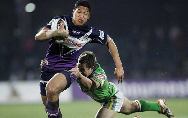 Israel Folau playing for Melbourne Storm